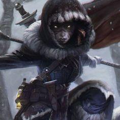 Hunting with the Spirits, Caroline Gariba on ArtStation at https://www.artstation.com/artwork/hunting-with-the-spirits