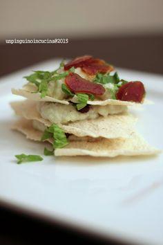 Casarau Bread, Celery Mousse and Bottarga Millefeuille - Millefoglie di pane carasau con mousse di sedano e bottarga