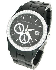 a546945f342 Armani Exchange Crystal Accents Black Dial Women s watch  AX5020 Armani.   160.00