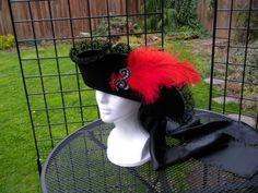 ladies pirate hat lace trimmed double sided found in Accessories