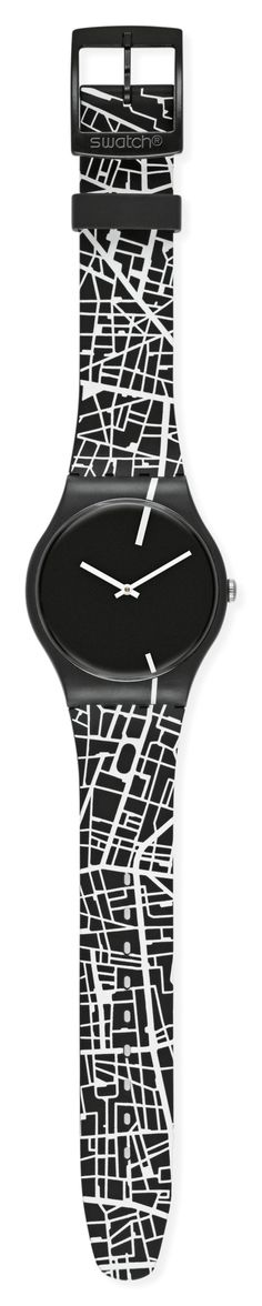 The strap of this watch was inspired by the streets of Paris and London.