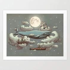 Buy Ocean Meets Sky by Terry Fan as a high quality Art Print. Worldwide shipping available at Society6.com. Just one of millions of products available.