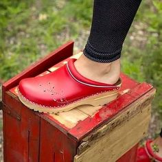 Jelly shoes weird platform shoes stella mccartney,black suede boots western shoes womens,where to find ugg boots chelsea boots dark brown mens. Wooden Sandals, Wooden Clogs, Clog Boots, Clogs Shoes, Red Shoes, Me Too Shoes, Western Shoes, Swedish Clogs, Jelly Shoes