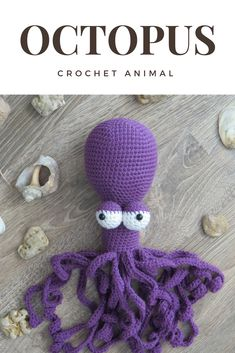 Crochet Octopus, Crochet toys, Octopus baby toy, Octopus plush toy, Stuffed Octopus, Soft animal toys, First baby toy, Baby toys handmade