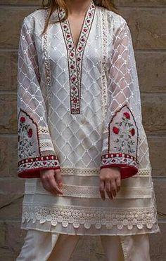 Fancy Dress Design, Stylish Dress Designs, Designs For Dresses, Stylish Dresses, Casual Dresses, Pakistani Dresses Casual, Pakistani Dress Design, Pakistani Couture, Dress Neck Designs