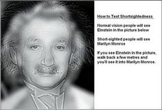 Test your eyes.