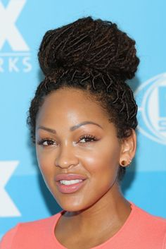 I love her faux locs! I bet it took HOURS *rolls eyes*