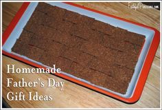 Here's a great homemade Father's Day Gift idea that you can make with your kids.