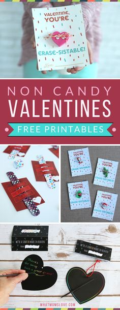 No Candy Valentines for kids | Free Printable Valentine's Day Cards | School Classroom Valentines