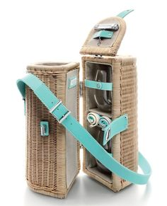 This wicker number carries all your libation essentials: champagne, tumblers and a sterling silver bottle opener. It's the ultimate picnic basket — for grown-ups. Tiffany Central Park wine carrier at tiffany.com
