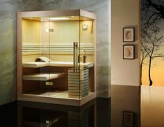 Sauna Infrarouge de la marque Grandehome, série METIS. Dim: 100x100cm, peut aller jusqu'a 250x250cm Trouvez toute notre collection de douche Hammam sur : http://goo.gl/TbC2wG