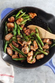 Honey-Ginger Pork Stir Fry with Green Beans