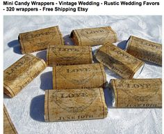 Vintage wrapped candy... love