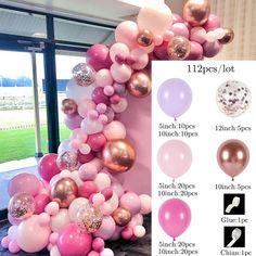 Balloon garland kit - pink mix