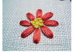 A trick for evenly spaced flower petals · Needlework News | CraftGossip.com