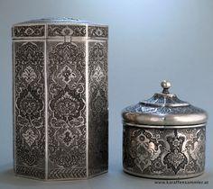 antique persian silver box