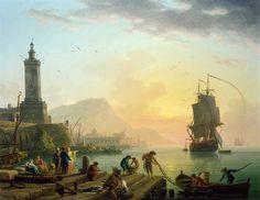 Claude-Joseph Vernet - Calm at a Mediterranean Port [1770]