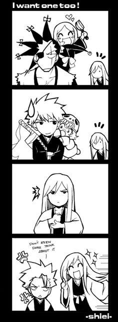 Poor Captain Ukitake, all he wants is a little buddy!!-- by *nekoshiei on deviantART
