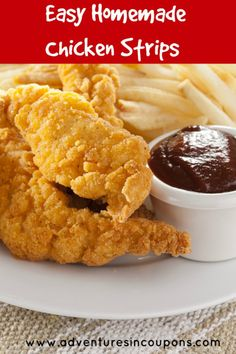 Kid pleasing, easy and cheap! What more could a Mom want in a recipe? These Easy Homemade Chicken Strips will have even your pickiest eaters...