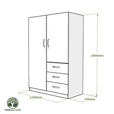 Brimnes Wardrobe, Glass Wardrobe, Diy Furniture, Furniture Design, Cute Room Decor, Diy Box, Walk In Closet, Diy Wood Projects, Space Saving