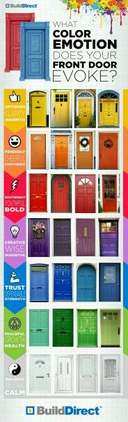 Color emotion for your front door