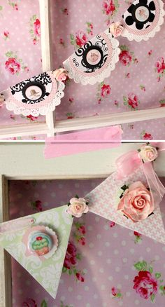 and still more beautiful garlands    http://www.freeprettythingsforyou.com/2011/08/pretty-diy-i-will-never-stop-loving/