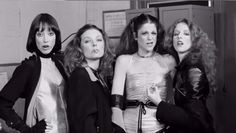 Shelley Duvall with the original SNL ladies; Jane Curtin, Gilda Radner, and Laraine Newman.