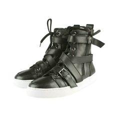 huge discount 32d6e 32715 red bottom shoes Black Sneakers, Black Flats, Leather Sneakers, Shoes  Sneakers, Red