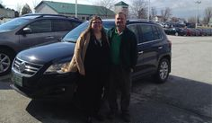 James and Ann's new 2009 VOLKSWAGEN TIGUAN! Congratulations and best wishes from North Country Nissan and LOUIS YOUNG.