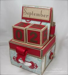 Crafting with Class: Teacher Gifts- Calendar Cube Tutorial