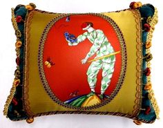 "Scalamandre fabric. "" Venetian Carnival "" Designer accent Pillow  