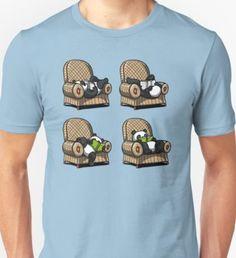Panda Bear Book Reading Lover Funny Armchair Poses T-Shirt
