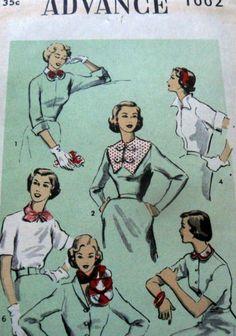 Lovely Vtg 1950s Neck Trim Amp Head Band Advance Sewing Pattern | eBay