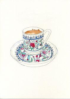 turkish coffee watercolor