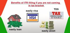 5 Benefits of ITR filling if you are not coming in Tax Bracket. #itr #incometaxreturn #tax More Info @ https://www.moneydial.com/5-benefits-itr-filling-not-coming-tax-bracket/
