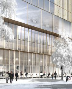 david chipperfield : nobel center in stockholm Architecture Drawings, Facade Architecture, Leh, David Chipperfield Architecture, Retail Facade, Wood Arch, Healthcare Architecture, Commercial Architecture, Photoshop Rendering