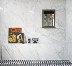 Tile -Sangah's - BERNINI 60x120 명화와 대리석타일, 거울이 어우러져 고급스러운 공간을  연출시켜 줍니다. #tile #tiles #Sangahtile #intetior #design #Gogh #marble #ceramic #living #style #shop #타일 #수입타일 #바닥타일 #공간 #고흐 #요하네스페르메이르 #진주귀걸이 #장미 #해바라기 #그림 #거울 #쇼룸 #전시장 #상아타일 #신제품 #홈 #디스플레이