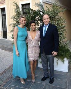 Eva Longoria with Prince Albert and Princess Charlene in Monte Carlo