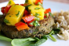 Black bean and sweet potato burgers - seriously delicious