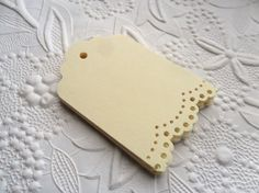 25 Cream Lace Gift Tags-Hang Tags-Price by WithLovebyTwoSisters Craft Punches, Craft Markets, Tag Design, Paper Tags, Christmas Gift Tags, Etsy Crafts, Card Tags, Sell On Etsy, Harvest Market