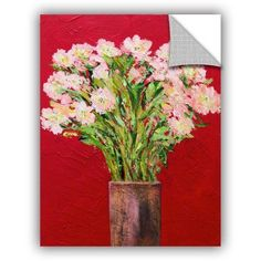 ArtAppealz Allan Friedlander Sparkling Removable Wall Art, Size: 36 x 48, Pink