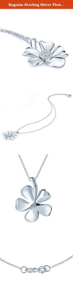 Begonia Sterling Silver Flowers Pendant Necklace Large Silver (18 Inches). Begonia flowers, it is gentle, it is beautiful, it is adorable. Just like the lovely women. They are so elegant and charming, make you can't help to fall in love with. We using a 360-degree technique to polished the jewelry in order to make it more clean and shin. Featured Cubic Zircon, handmade mosaic; zircon will not fall, more shine, repeatedly polished smooth and delicate skin affinity. About Boyee Jewelry…