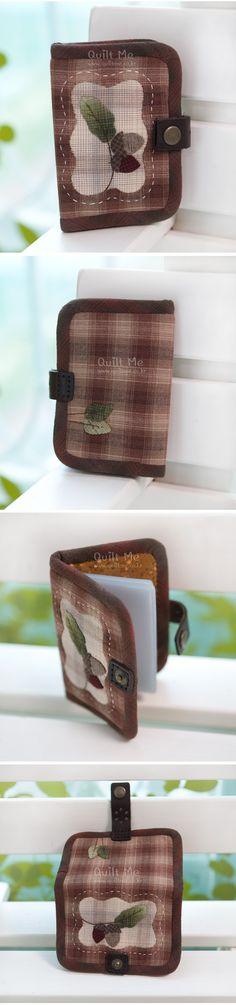 attractive, easy eye glasses case, wallet or needle keeper Japanese quilter 퀼트미 [도토리 카드명함지갑]