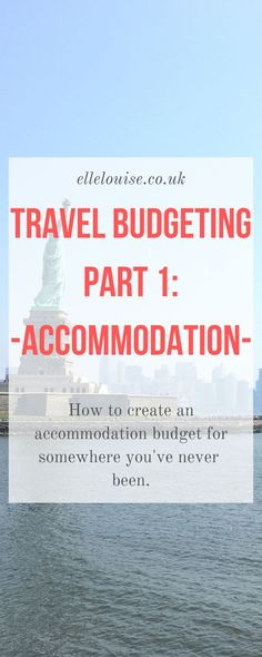 Wanting to create a travel budget for somewhere you have never been before? Here are my top tips for travel research, specifically accommodation budgeting. Part 1 of my Travel Budgeting Guide Travel Guides, Travel Tips, Round The World Trip, Budget Holidays, World Traveler, Solo Travel, Budget Travel, Saving Money, Travel Inspiration