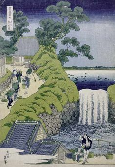 Katsushika Hokusai - Aoigaoka Waterfall in the Eastern Capital