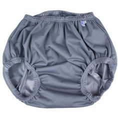 GaryWear Active Brief in Gray PUL. These pants are washable and breathable, and fit snugly over a disposable diaper. Active Design, Bed Wetting, Laminated Fabric, Plastic Pants, Disposable Diapers, Popular Colors, Diaper Covers, Cloth Diapers, Slim