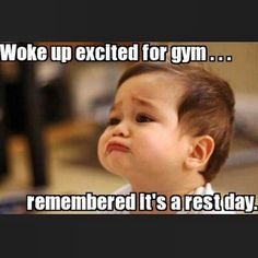 Our rest day face #gymhumor
