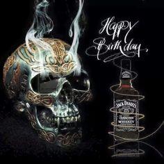 Tribal Carved Skull + Bottle of Jack Daniels. Whisky, Cigars And Whiskey, Whiskey Girl, Jack Daniels Cocktails, Jack Daniels Whiskey, Jack And Jack, Jack Black, Happy Birthday Meme, Street Art Graffiti
