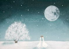By the Light of the Moon  -  Jules @ Juju & Bubba Art & Illustration