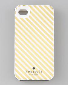 Golden Diagonal Stripe iPhone 4 Hard Case - Neiman Marcus